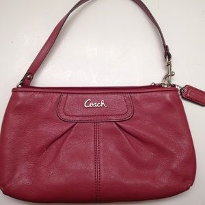 Pink coach Ashley wristlet wallet
